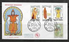 L3140 TUNISIE FDC EMISSION COSTUMES 1963