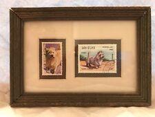 Cairn Terrier ~ Framed Postage Stamps ~ REP. DE GUINEA ECUATORIAL &  LAOS