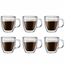 Double Wall Thermo Glass Cups - Pack of 6