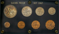 1967-S SUDAN MINT PROOF SET  BU UNC BEAUTIFUL COLOR