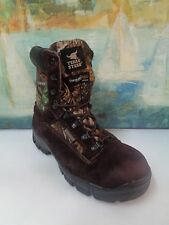Men's TEXAS STEER BOOTS~Camouflage/Brown~w/Thinsulate Insulation~Sz 9.5