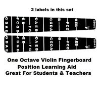 2 Violin Fiddle Fingerboard Stickers Fret Marker Labels Fingering Chart 4/4