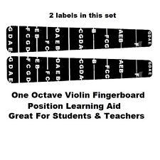 2 Violin Fiddle Fingerboard Stickers Fret Marker Labels Fingering Chart 4/4