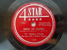 """""""T"""" Texas Tyler - Deck of Cards / Sweet Thing 4-Star 78 Country 1228"""