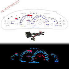 Reverse White Indiglo Glow Gauge For Pontiac Sunfire I4 95-99 110MPH 8000RPM AT