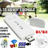 4G LTE 3G USB Dongle Mobile Broadband Wifi Hot Spot Mifi Internet Modem Unlock