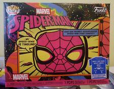 Funko Marvel Black Light Spider-Man Pop & Tee Bundle Target Exclusive L /IN HAND