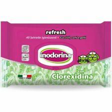 Inodorina Refresh 40 Salviette Clorexidina Igienizzanti per Cani e Gatti