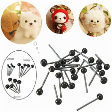 150 Pairs 2-4mm Glass Eyes for Needle Felting Sewing Bear Doll Toy Craft DIYTool