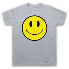 ACID HOUSE SMILE FACE SMALL GREY MENS T-SHIRT