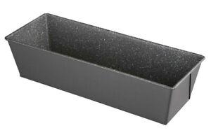 Kastenform Backform Brotbackform rechteckig Antihaft Marmour Karbonstahl 31x11