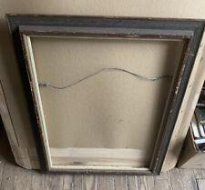 vtg wood farmhouse chic mid century picture Sz 24�x18� frame art painting canvas