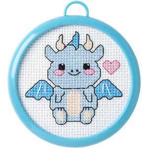 Counted Cross Stitch Kit ~ My 1st Stitch Baby Dragon w/Frame #47900