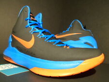NIKE KD V 5 KEVIN DURANT OKC THUNDER BLACK ORANGE PHOTO BLUE 554988-048 10.5