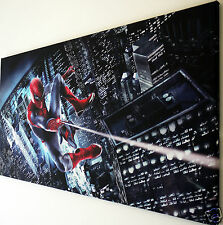 """SPIDERMAN   CANVAS WALL ART  PICTURE  LARGE 18"""" X 32""""  READY TO HANG"""