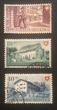 Schweiz Pro Patria 1949 Mi-Nr. 525/26 + 528 gestempelt