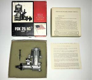 Fox 25 RC Glow / Nitro Model Airplane Engine N.O.S.