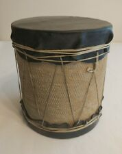 Vintage 1950's BSA Boy Scouts of America Hand Made Indian Snare Drum - Folk Art