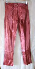 PVC-U-Like PVC Women's Fit Jeans Trousers Plastic Metallic Shiny Pants Bottoms S