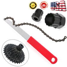 US MTB Bike Bicycle Cassette Freewheel Chain Whip Sprocket Lock Remover Tool Kit