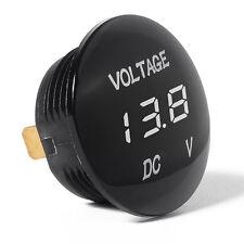LED Car Motorcycle White Digital Display DC Voltmeter Volt Gauge Meter 12V-24V
