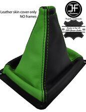 Negro y verde grano superior de cuero MANUAL GEAR GAITER encaja Kia Sorento MK1 02-09
