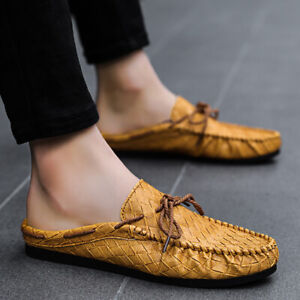 Mens Driving Casual Slingbacks Slippers Loafers Moccasins Pumps Slip On Shoes