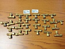 LOT OF 26 PARKER BRASS FITTING TEE X171C-4-2  New Old Stock