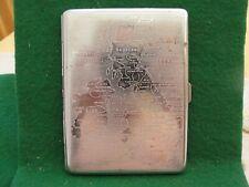 More details for vintage art deco cigarette case chrome finish & map of uk engraved 4