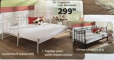 Neu Ausziehbares Bett / Metallbett / Tagesbett weiß