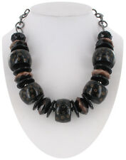 Big Black Tribal Ethnic Beaded Chunky Necklace