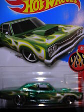 Hot Wheels 69 Dodge Coronet Superbee Green  HW Flames 2015  MOMC NEW