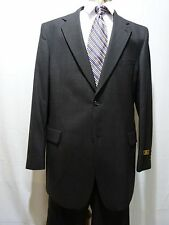 Men's Suit, 46 X-Long, 100% Wool, Charcoal Gray,NWT