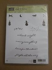 Stampin Up JINGLE ALL THE WAY clear mount stamps Christmas Holidays snowman dog