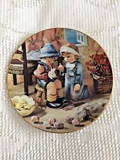 "M. J. Hummel Little Companions Plate ""Tender Loving Care"" Danbury Mint"