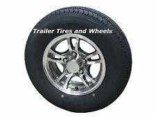 "JGK 175/80R13 LRC Radial Trailer Tire on 13"" 5 Lug Aluminum Trailer Wheel acc"