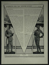 Fashions For Winter Sports Skiing Skating Burberry 1929 Advertisement Ad 7117
