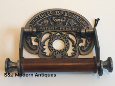 Vintage Toilet Roll Holder Grey Black Victorian Unusual Novelty Waterloo Silver