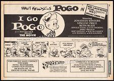 I GO POGO : The Movie__Original 1980 Trade AD / comic poster__WALT KELLY__possum