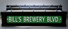 Black Lighted 18 Beer tap handle display -3 Levels & Personalized Street Sign