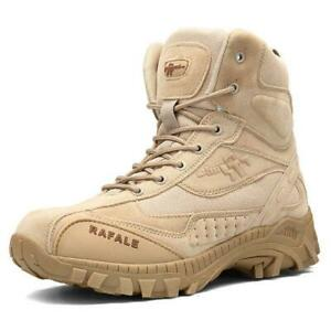 Men's Tactical Military Boots Outdoor Mid-Ankle Trekking Hiking Climb Work Boots
