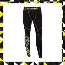 PULSE MOTOCROSS MX MOTORBIKE BASE LAYER - PROGEAR ULTRA LITE YELLOW & BLACK PANT