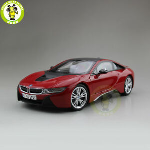 1/18 Paragon BMW i8 Racing Car Diecast Car Model Toys kids gift collection Red