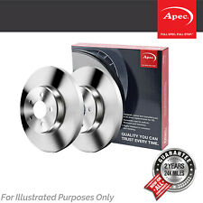 Fits Chrysler Voyager MK2 3.3i Genuine Apec Rear Solid Brake Discs Set