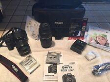 Canon EOS Rebel T5 / EOS 1200D 18.0MP Digital SLR Camera - Black (Kit w/ EF-S IS