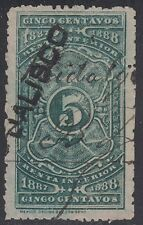 MEXICO, 1887-88. Revenue Jalisco Renta JA5B, Used