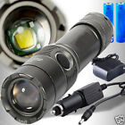 3500LM CREE XM-L T6 LED Rechargeable Lampe Torche w/18650 2 Batterie+2chargeur