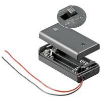 Batteriehalter Batterienhalter für 2x Mignon AA Batterien mit Deckel Schalter