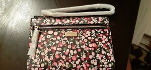 Kate Spade New York Shore St. Park Ave Floral Tinie Wristlet Black- NEW w/TAGS