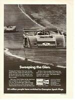 1972 Champion Spark Plugs Vintage Magazine Ad   Watkins Glen -  McLaren Cars